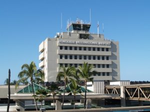 Administration tower at Honolulu International Airport