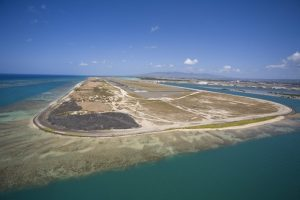 The Reef Runway was the world's first off-shore runway.