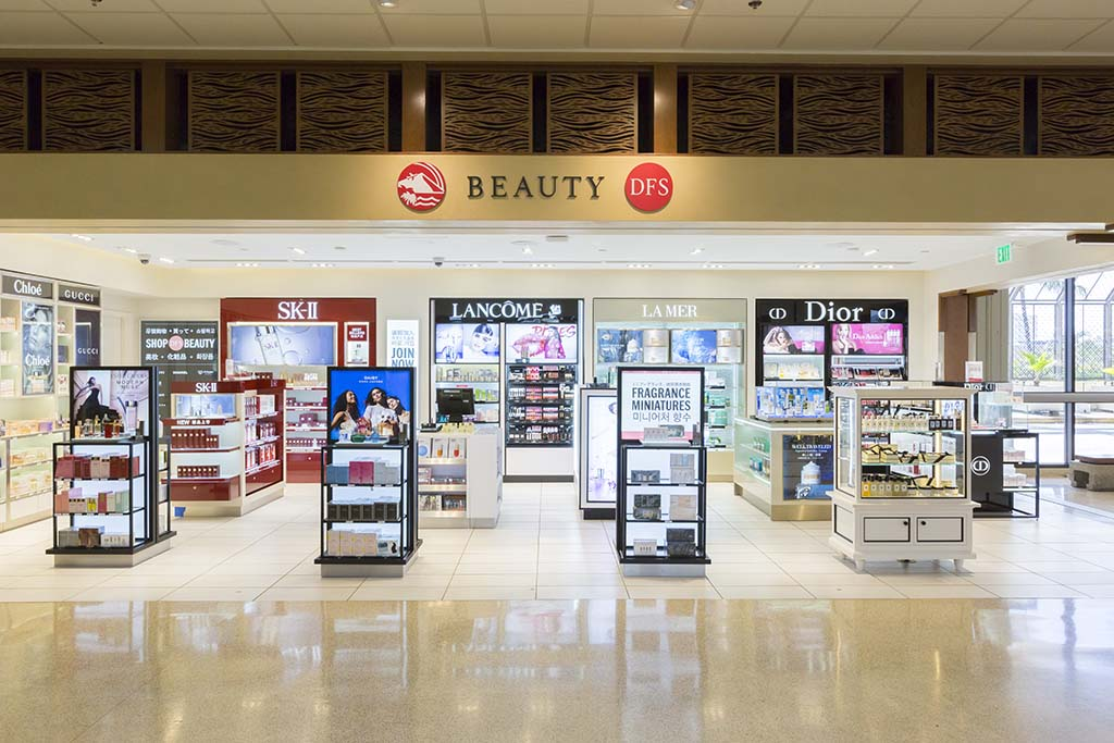 DFS Beauty Cosmetics.  Open daily 7:00 a.m. – 5:00 p.m.