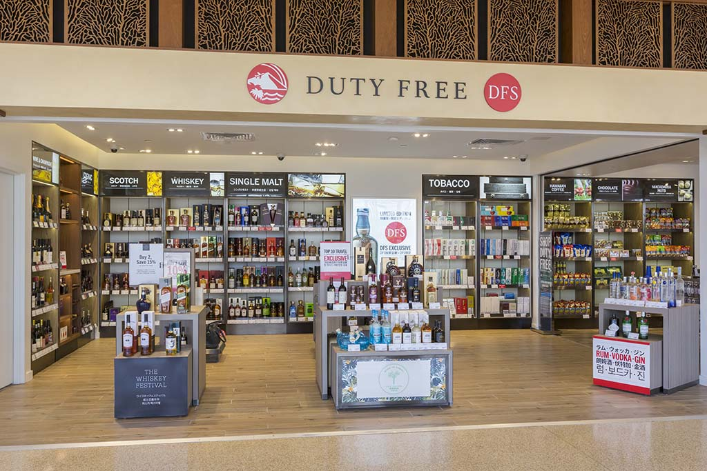 DFS Duty Free Liquor and tobacco.