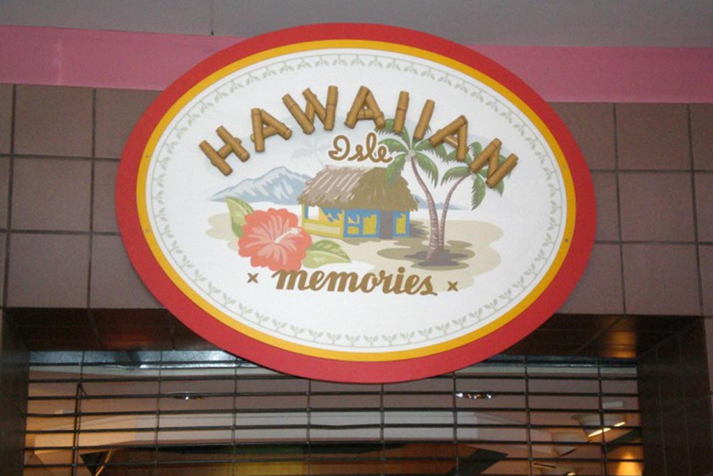 Hawaiian Isle Memories Gate 9  Gifts/Apparel  Open daily 8:30 a.m, – 10:00 p.m.
