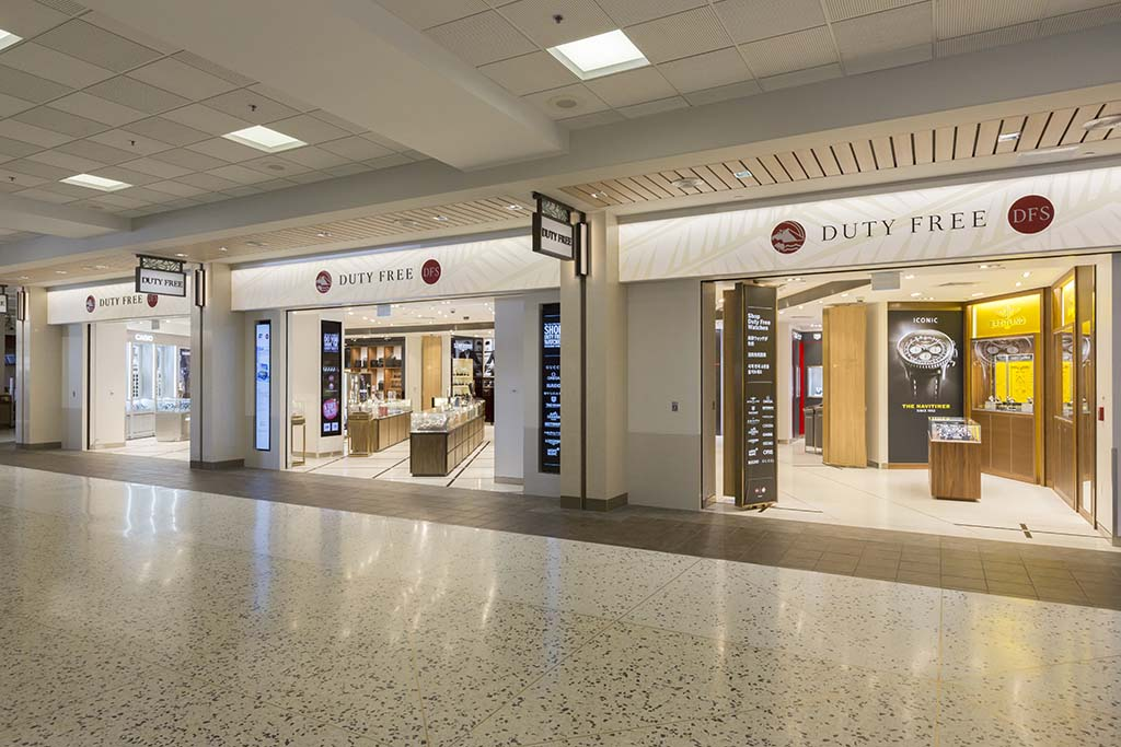 DFS Duty Free Watches & jewelry.  Open daily 7:00 am – 3:30 pm  4:45 pm – 10:45 pm