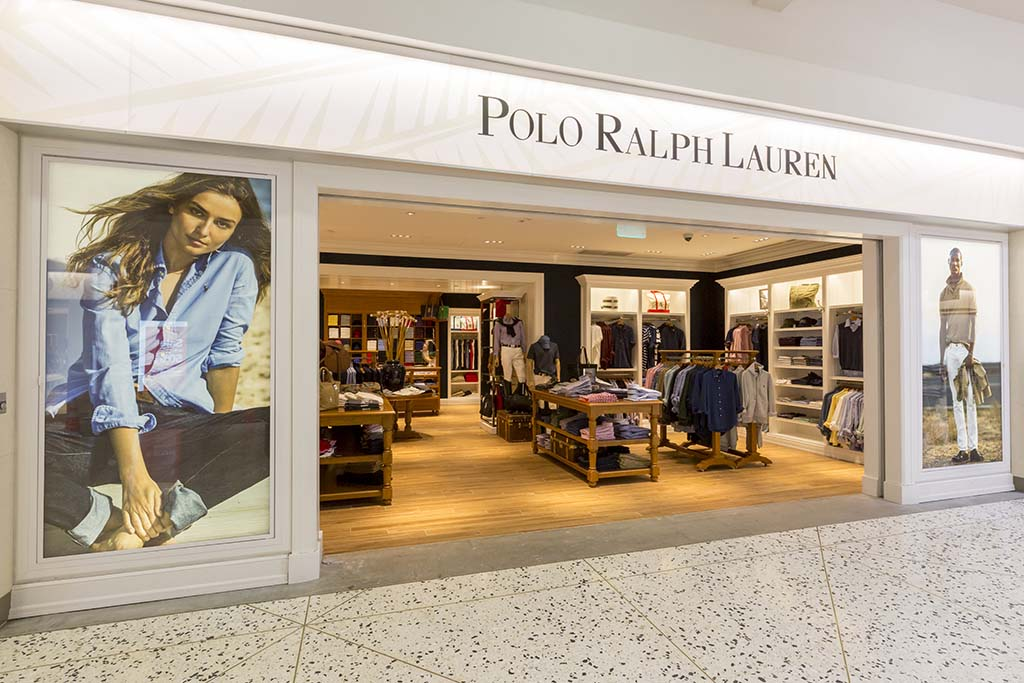 Polo Ralph Lauren Complete line of sportswear and tailored clothing for both men and women.  Open daily 7:00 a.m. – 3:00 p.m.