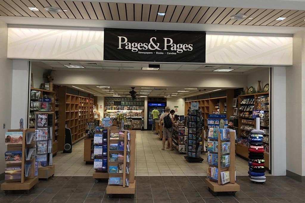 Pages & Pages Newspapers, books, candies, calendars, postcards, magazines, snacks.  Open daily 6:30 a.m. – 11:30 p.m.