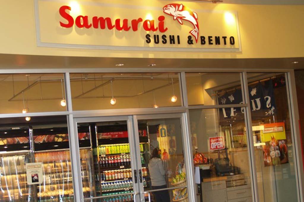 Samurai Sushi & Bento Offers a menu of high quality nigiri sushi and maki sushi, featured in traditional bento boxes, a perfect feature for the passenger on the go.</p><p>Open daily 6:00 a.m. – 2:30 p.m.