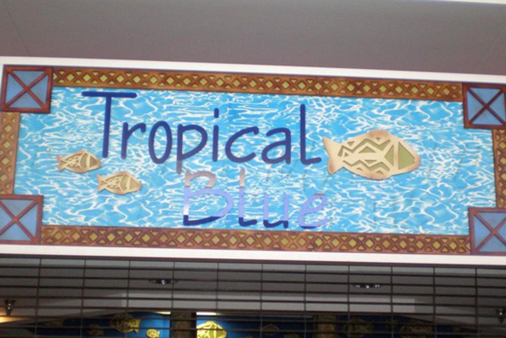 Tropical Blue Gift items.