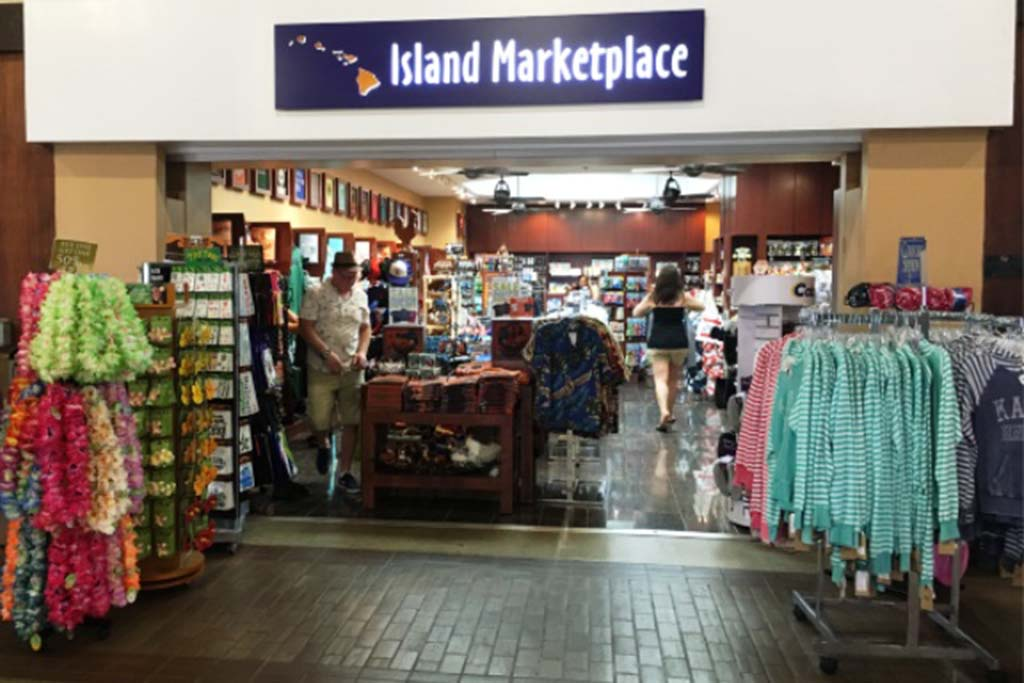 Last minute shopping of Kauai/Hawaii apparel and souvenirs, coffee, candy, fresh pineapple, etc.  Open daily 7:00 a.m. – 10:00 p.m.