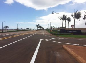 New Kahului Airport Access Road that connects Hana Highway to Lanui Loop.