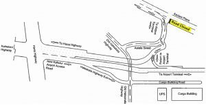 Overview map of new Kahului Airport Access Road